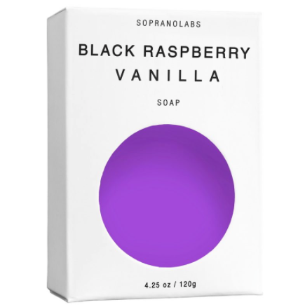 BLACK RASPBERRY VANILLA VEGAN SOAP- Sopranolabs