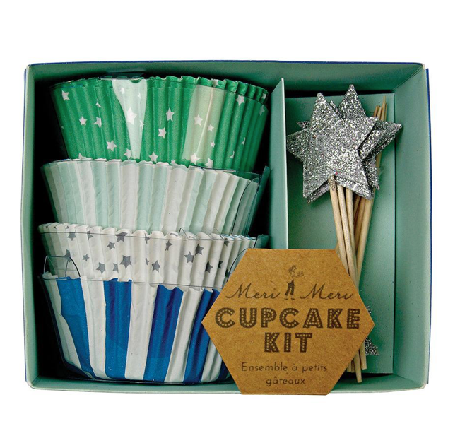 Blue Star Cupcake Kit