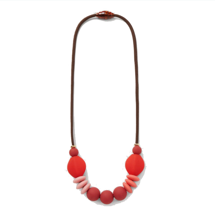 Signature Teething Necklace: rose