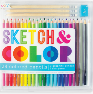 sketch and color colored pencil set - 28 piece set