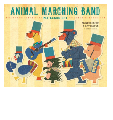 Animal Marching Band note cards