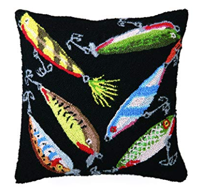 fish lure wool pillow