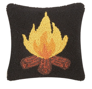 campfire wool pillow