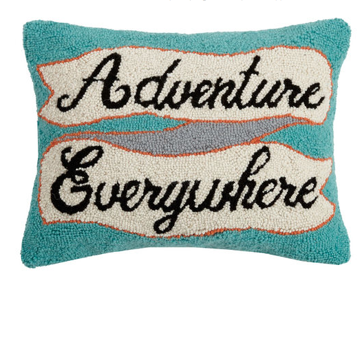 adventure everywhere wool pillow