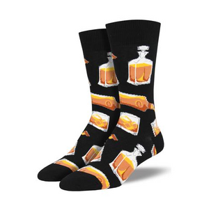 """Rocks or Neat?"" Scotch/Whiskey/Bourbon Socks"