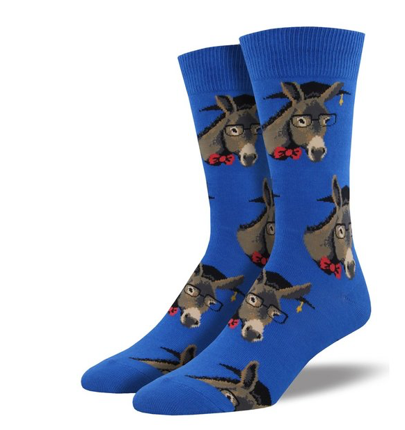 Smart Ass Socks- Blue