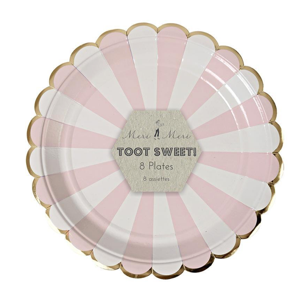 Dusty Pink paper plates (small)