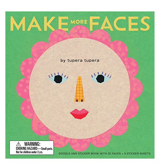 Make more Faces: Doodle and Sticker Book with 52 Faces + 6 Sticker Sheets