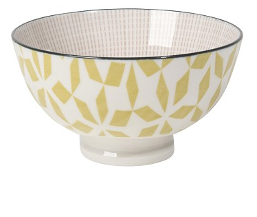 stamped bowl - yellow
