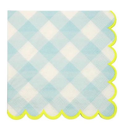 Blue Gingham Napkins (small)