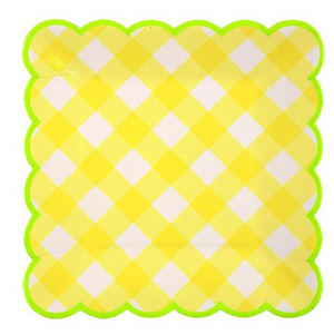 Yellow Gingham Small Plates