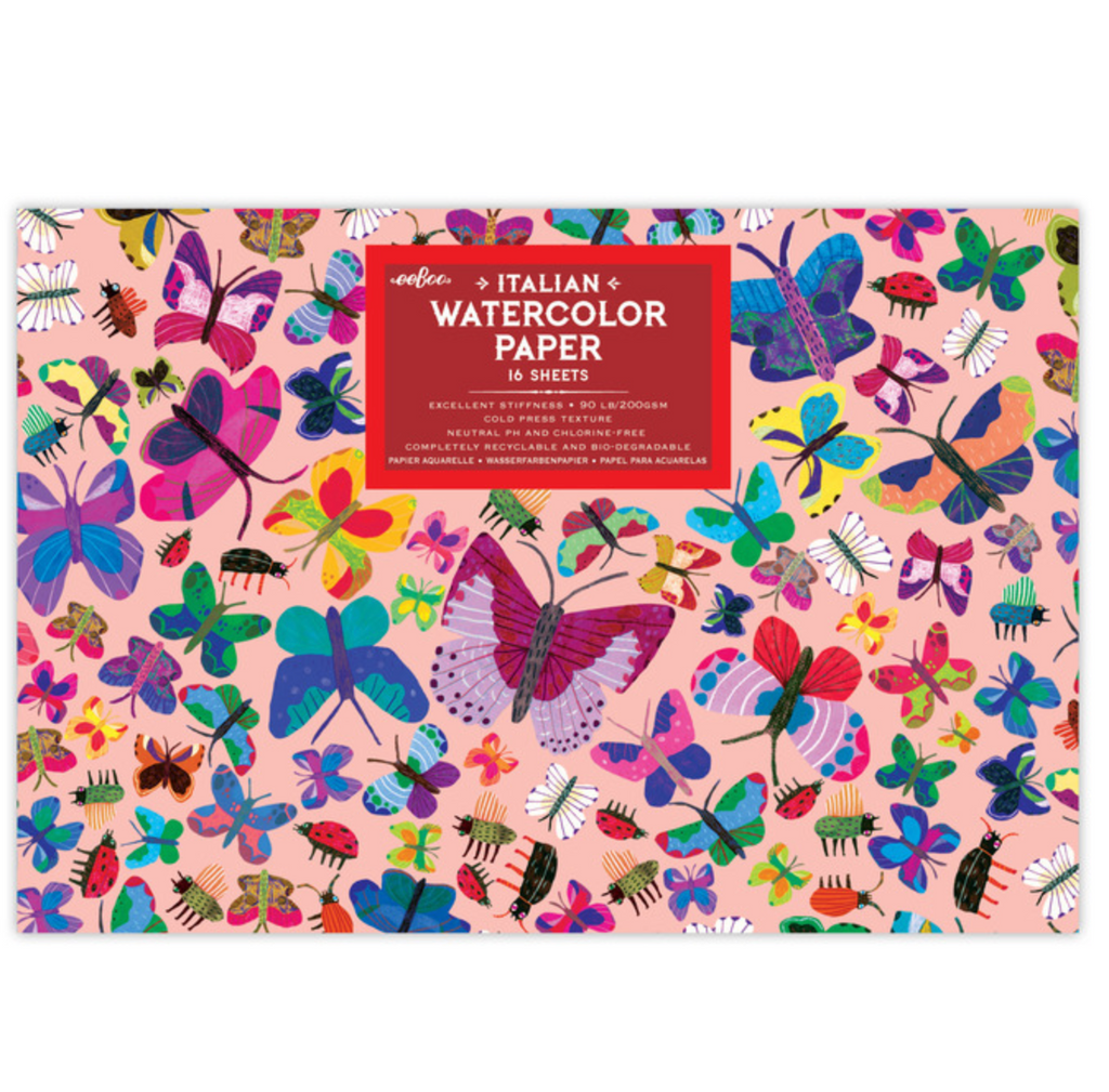 butterfly: Italian Watercolor Paper Pack