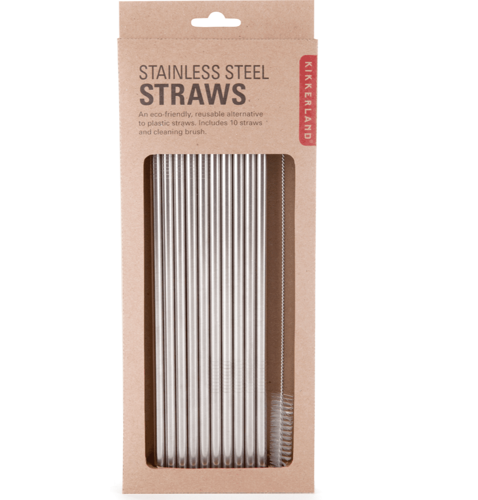 Stainless Steel Straw Set of 10- Kikkerland