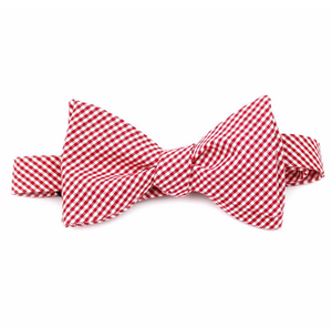 gingham bow tie - adult