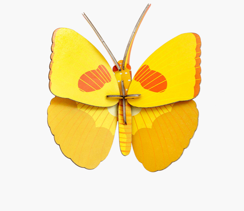 little wonder: yellow butterfly wall art KIT