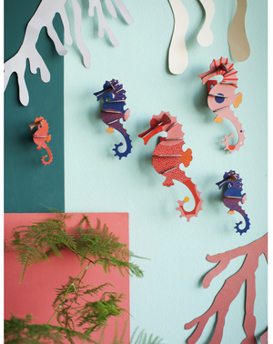 Sea Horses wall art KIT