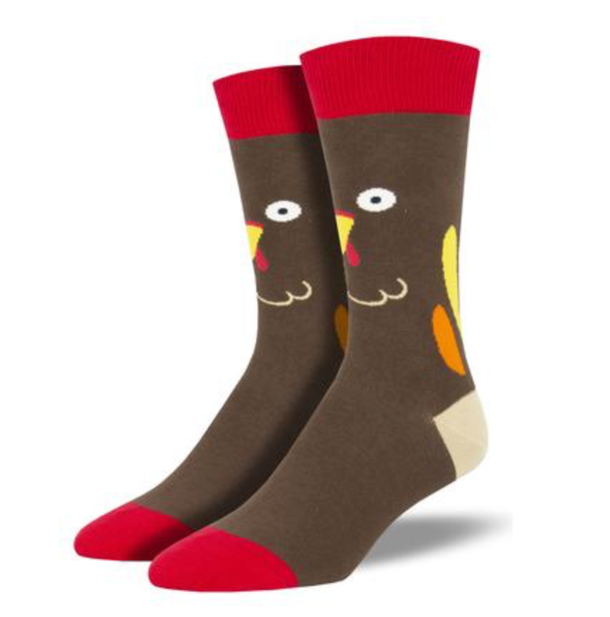 turkey face socks