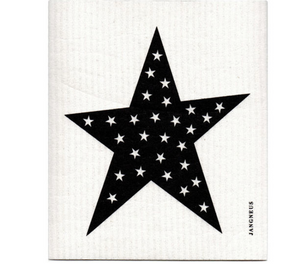 black star Swedish dishcloth