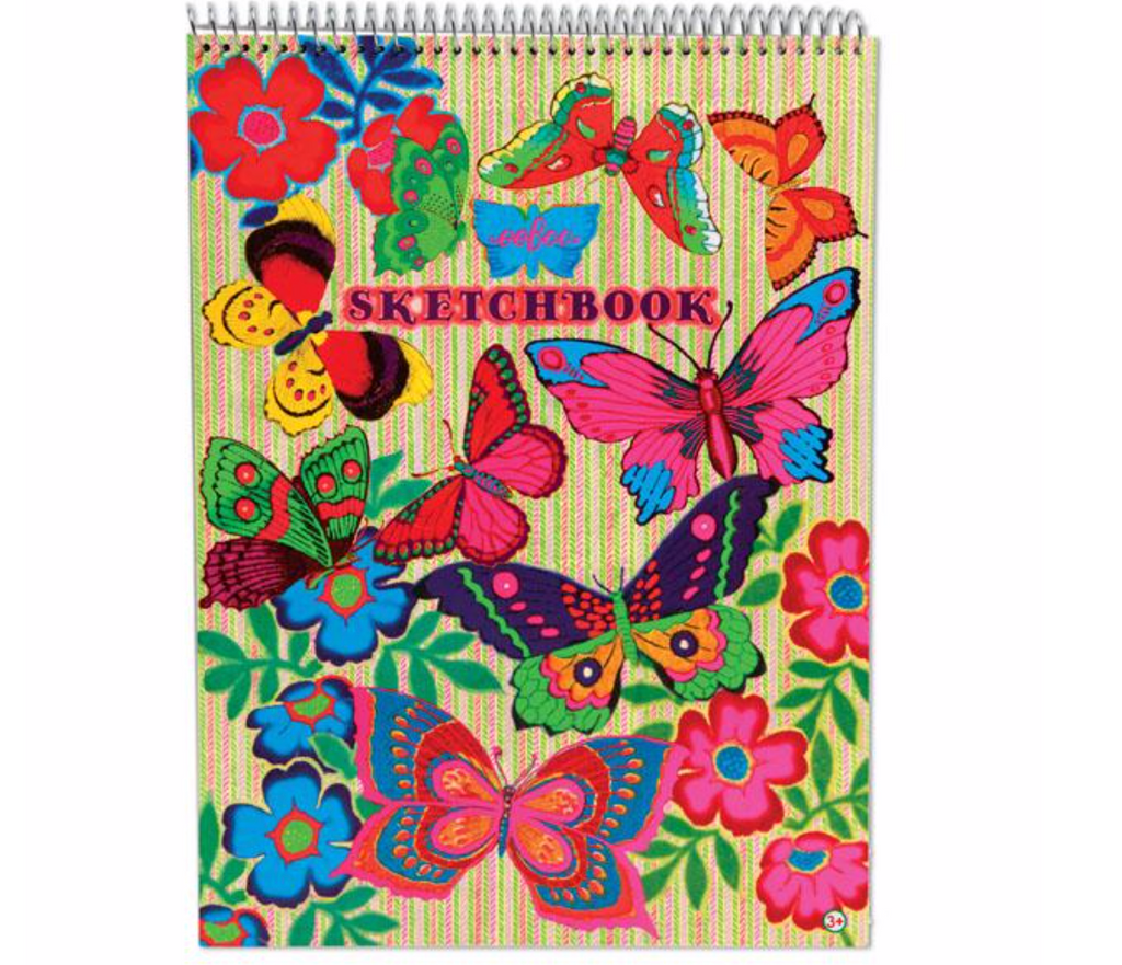 fluorescent  butterfly sketchbook