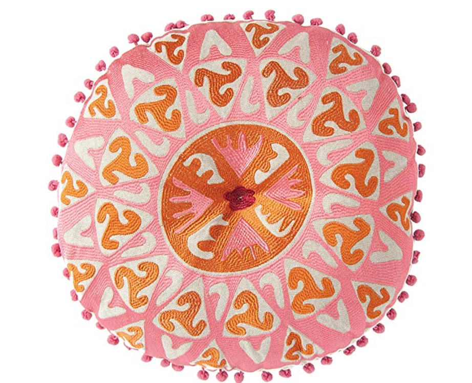 pink round pillow