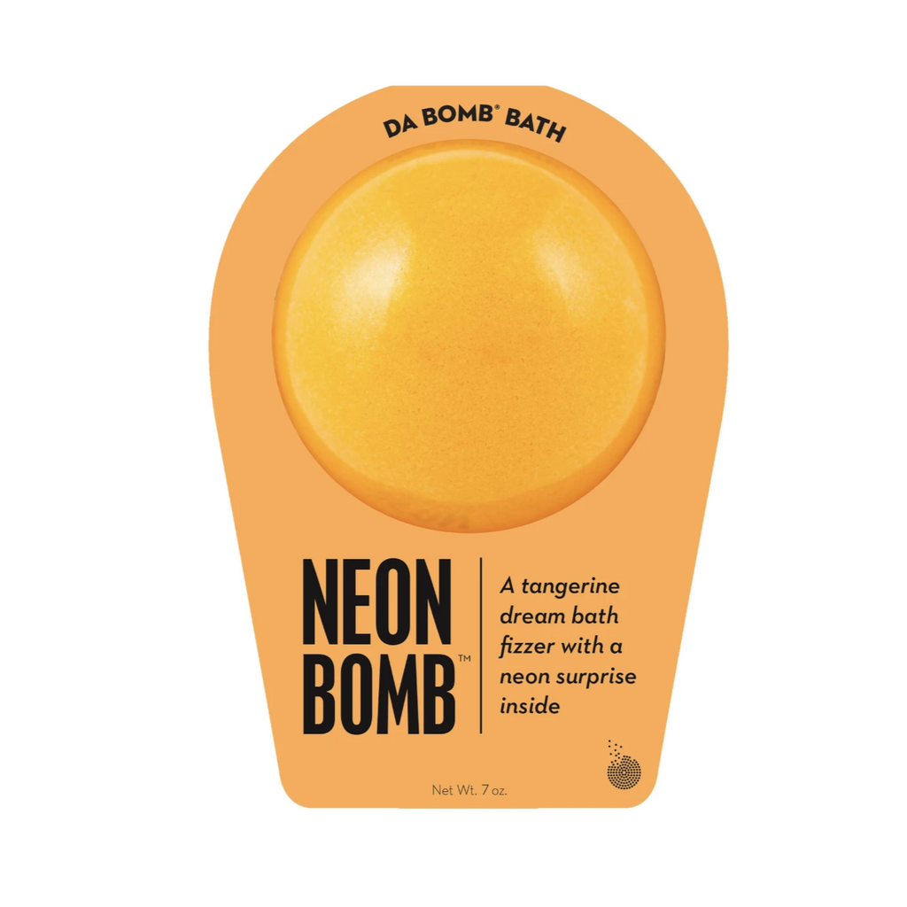 Neon Orange Bomb Bath Fizzers - daBomb