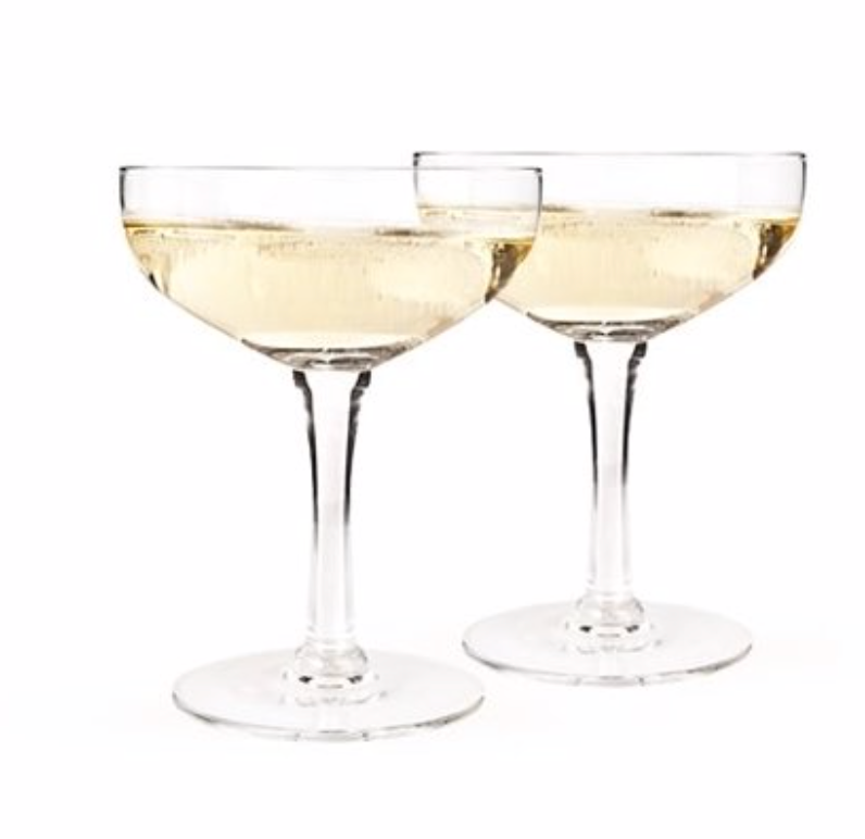 Glass Champagne Coupe Set by Twine