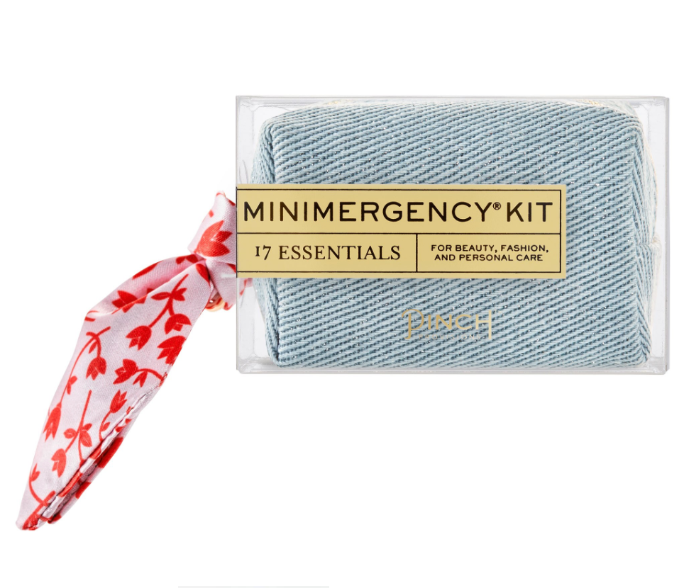 denim + scarf mini emergency kit