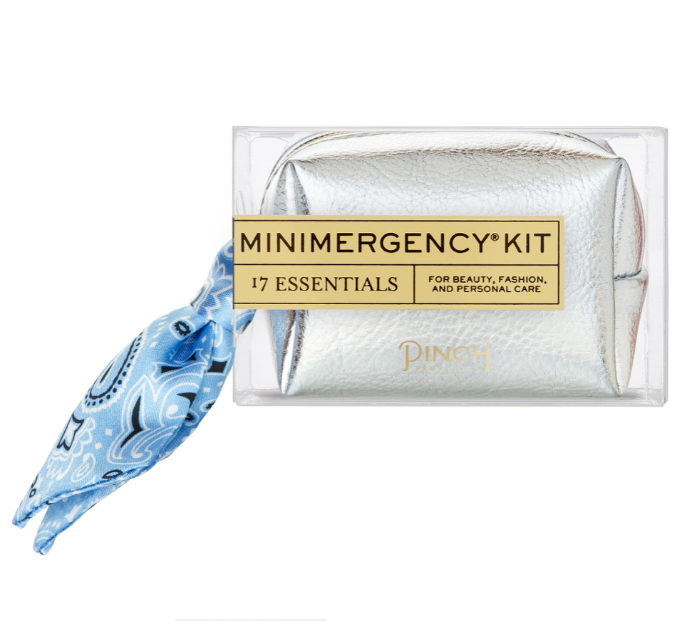 silver + scarf mini emergency kit