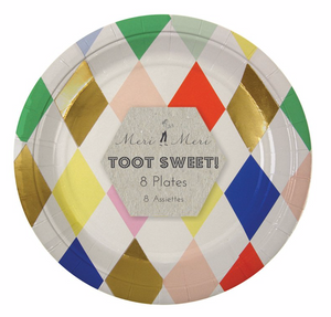 sm plate: toot sweet harlequin