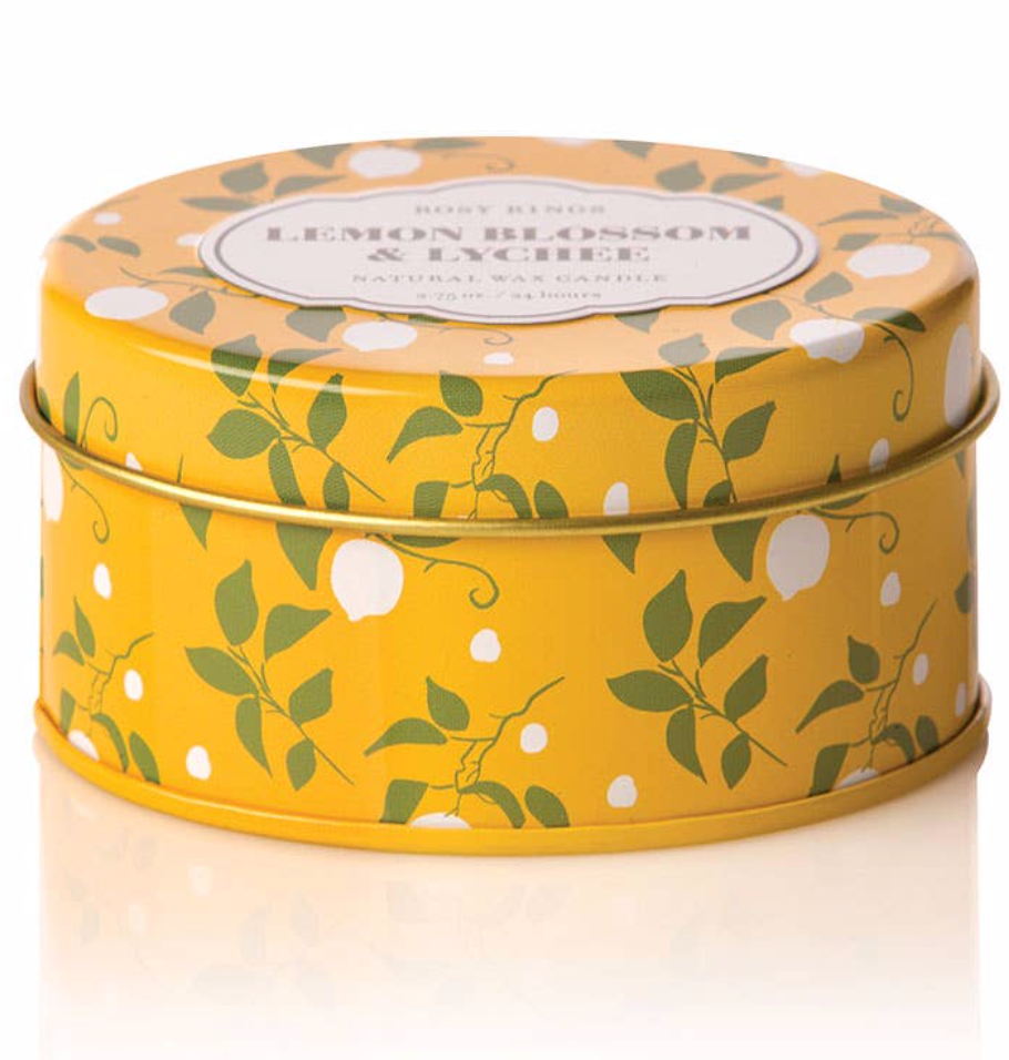 Lemon Blossom & Lychee Travel Tin Candle