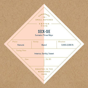 Seck-Sie Sumatra- Whole Bean Coffee