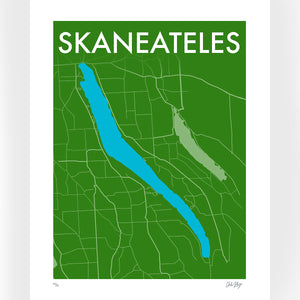 Green : Skaneateles Screenprint Poster