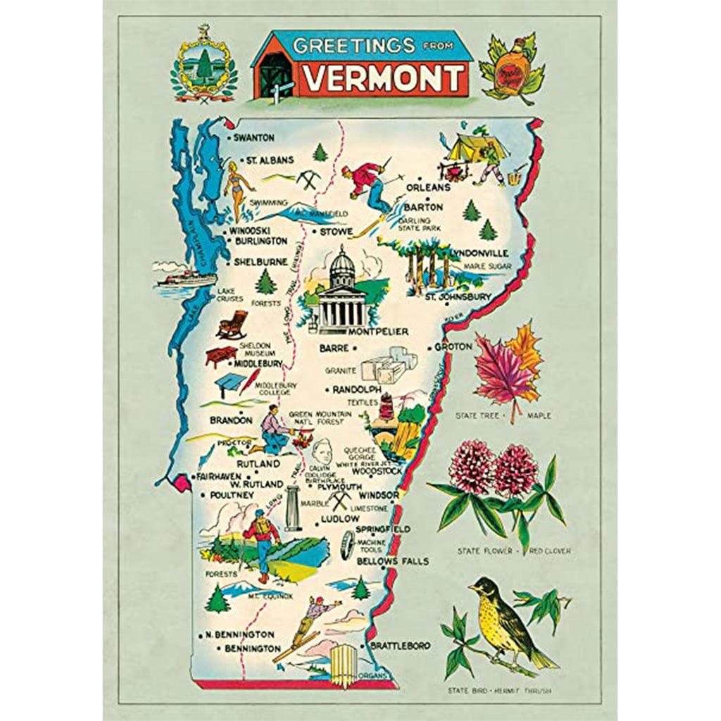 Vermont Map Poster