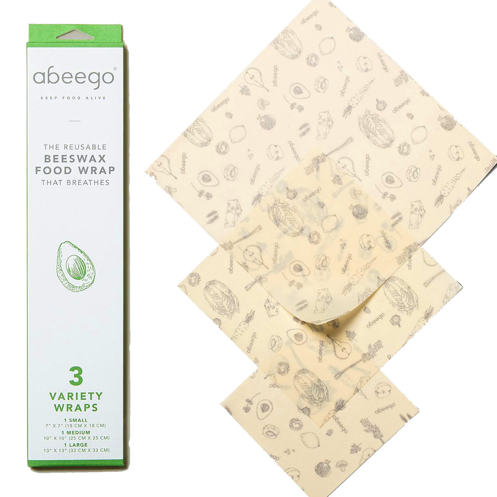 3 variety: beeswax food wrap Abeego