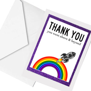 above and beyond... greeting card