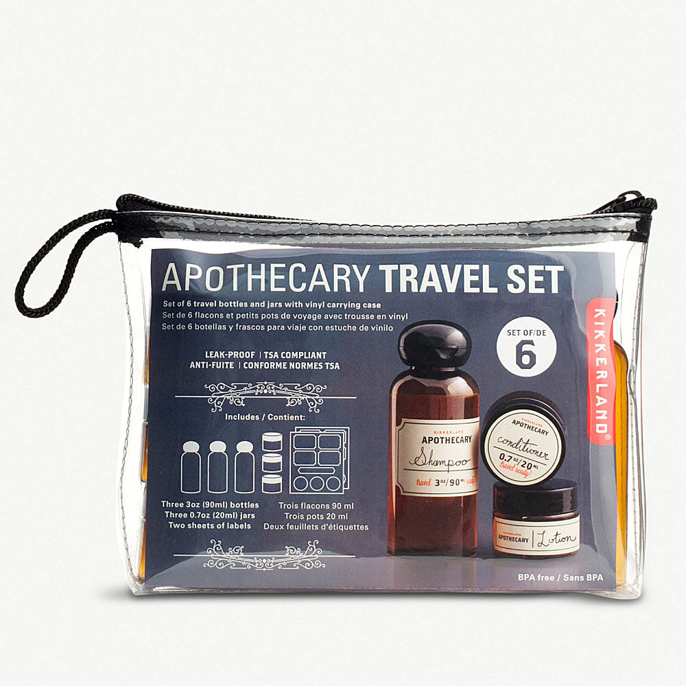 Apothecary Travel Set (set of 6)