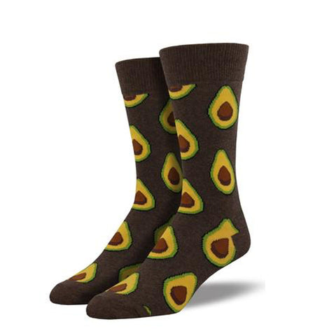 men's sock: Avocado