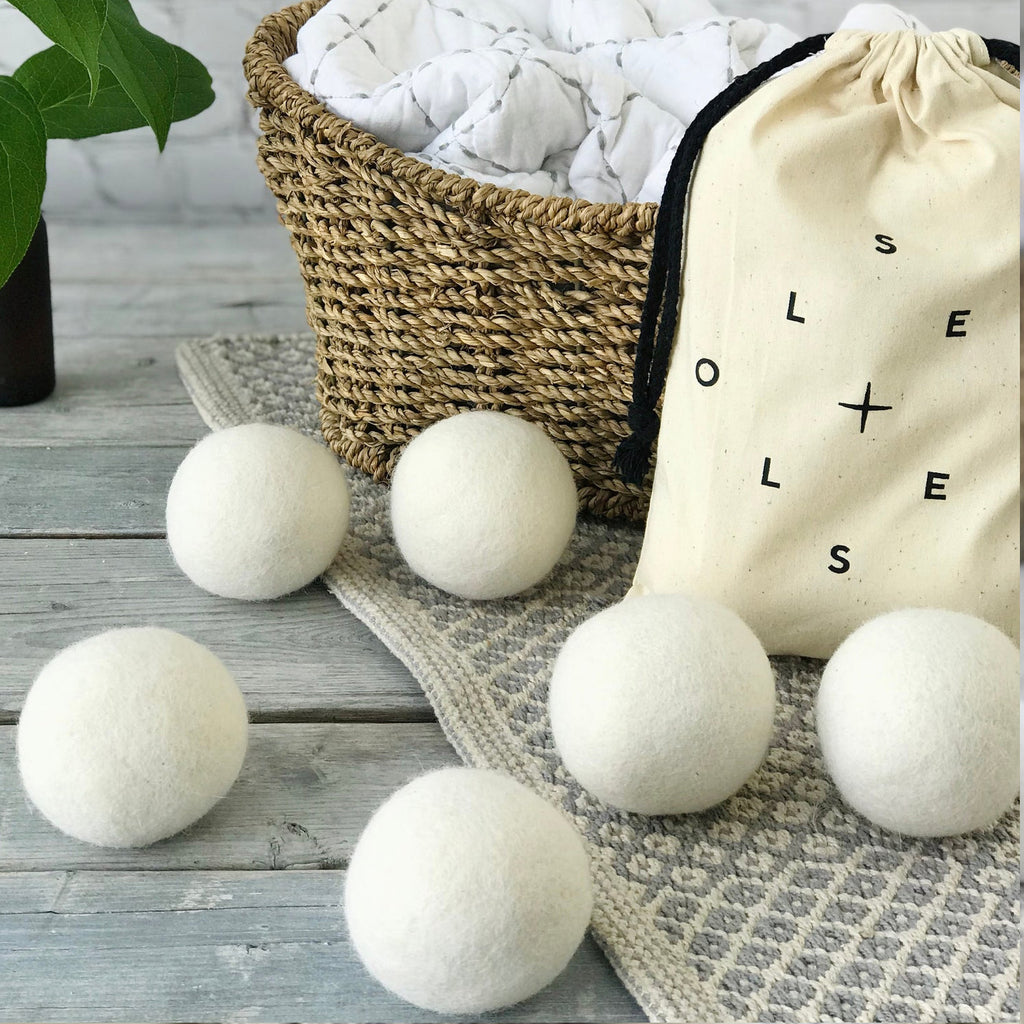 Wool Dryer Balls - Bag of 6 white