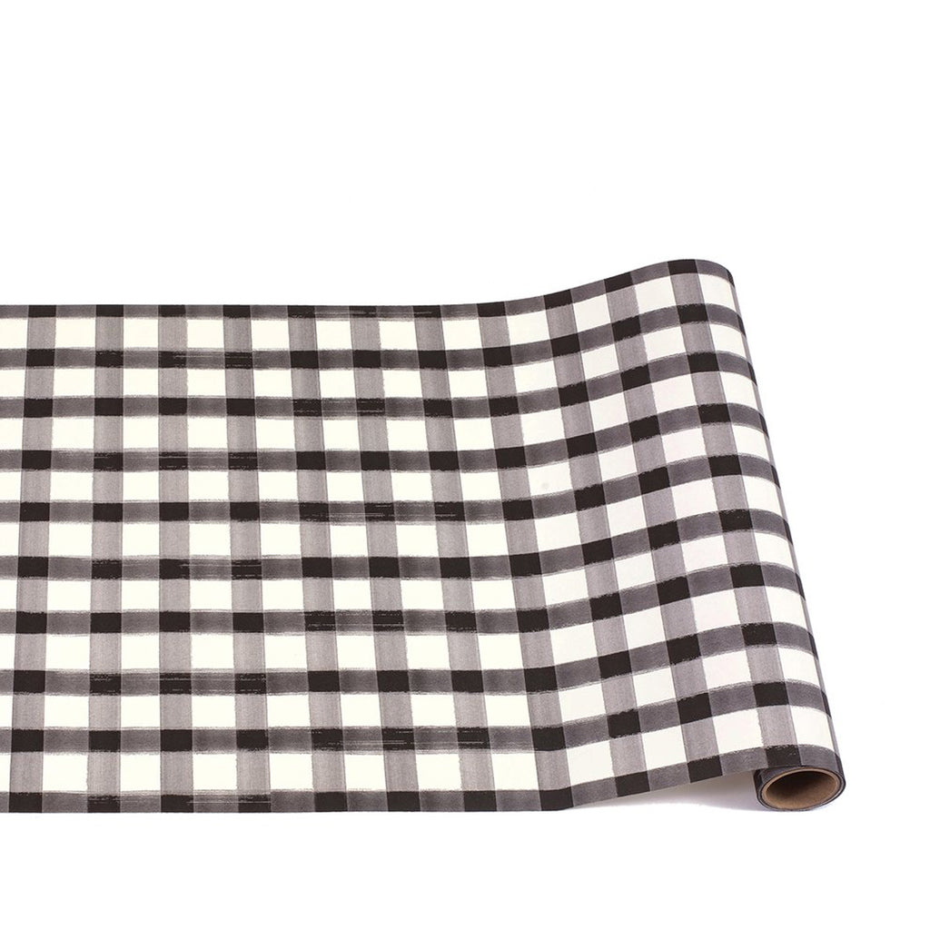 black painted check : paper table runner