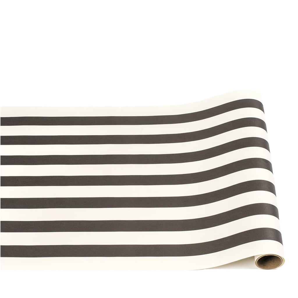 black stripe: paper table runner