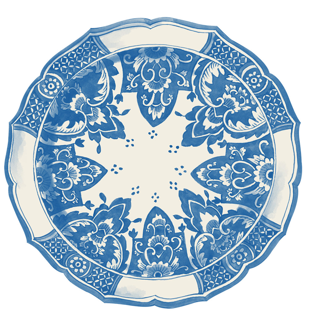 China Blue Die-Cut Placemat Sheets Placemat