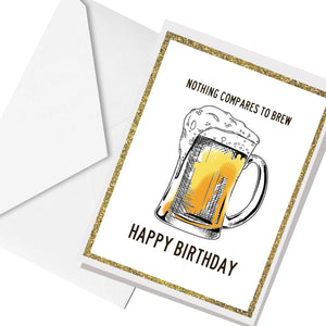 brew for your BDAY ... greeting card
