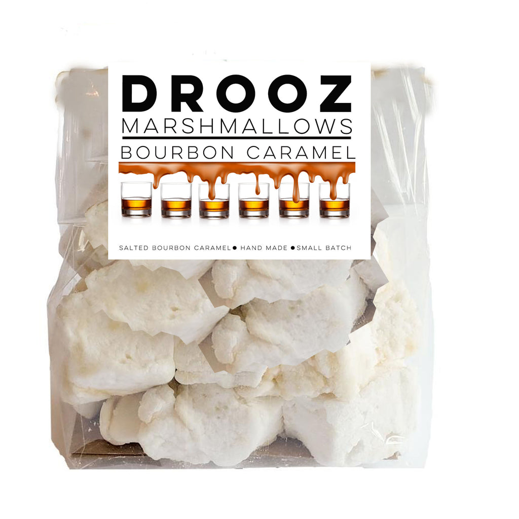 salted caramel bourbon marshmallows: DROOZ