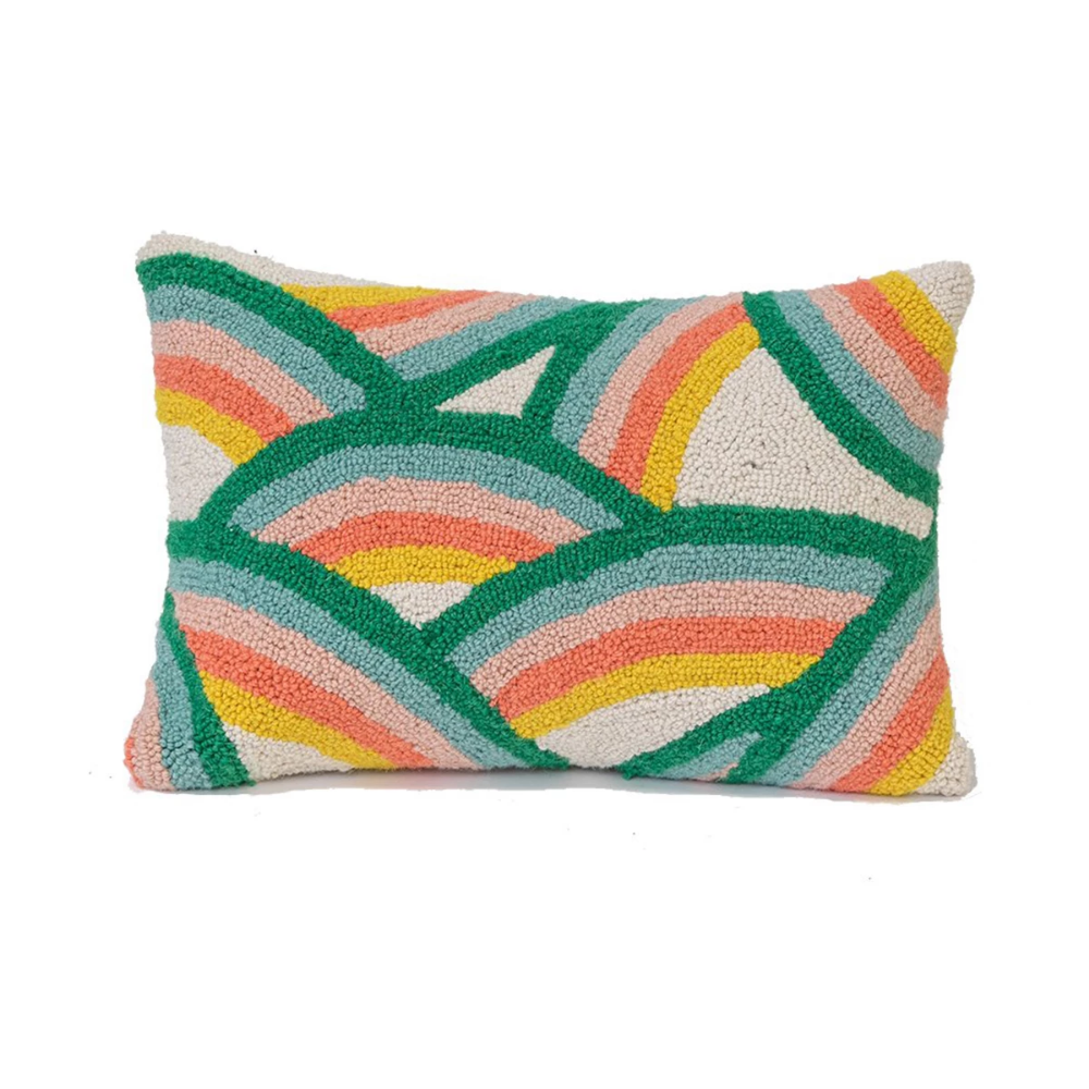 dancing rainbow pillow