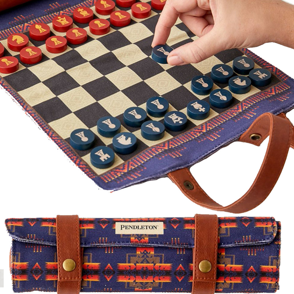 Pendleton Chess + Checkers: travel game