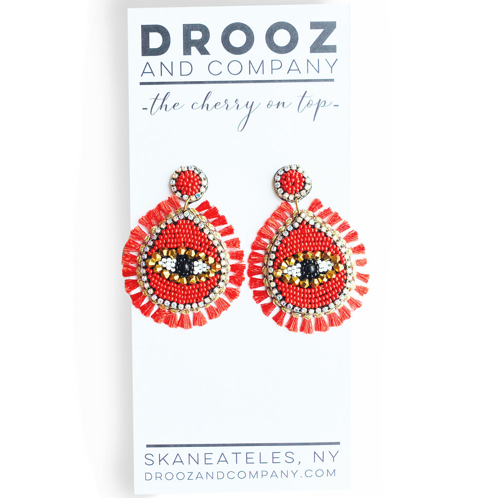 Eye For An Eye Earrings- the cherry on top