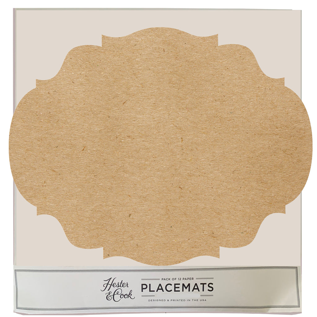 Scallop Die-Cut Placemat Sheets Placemat