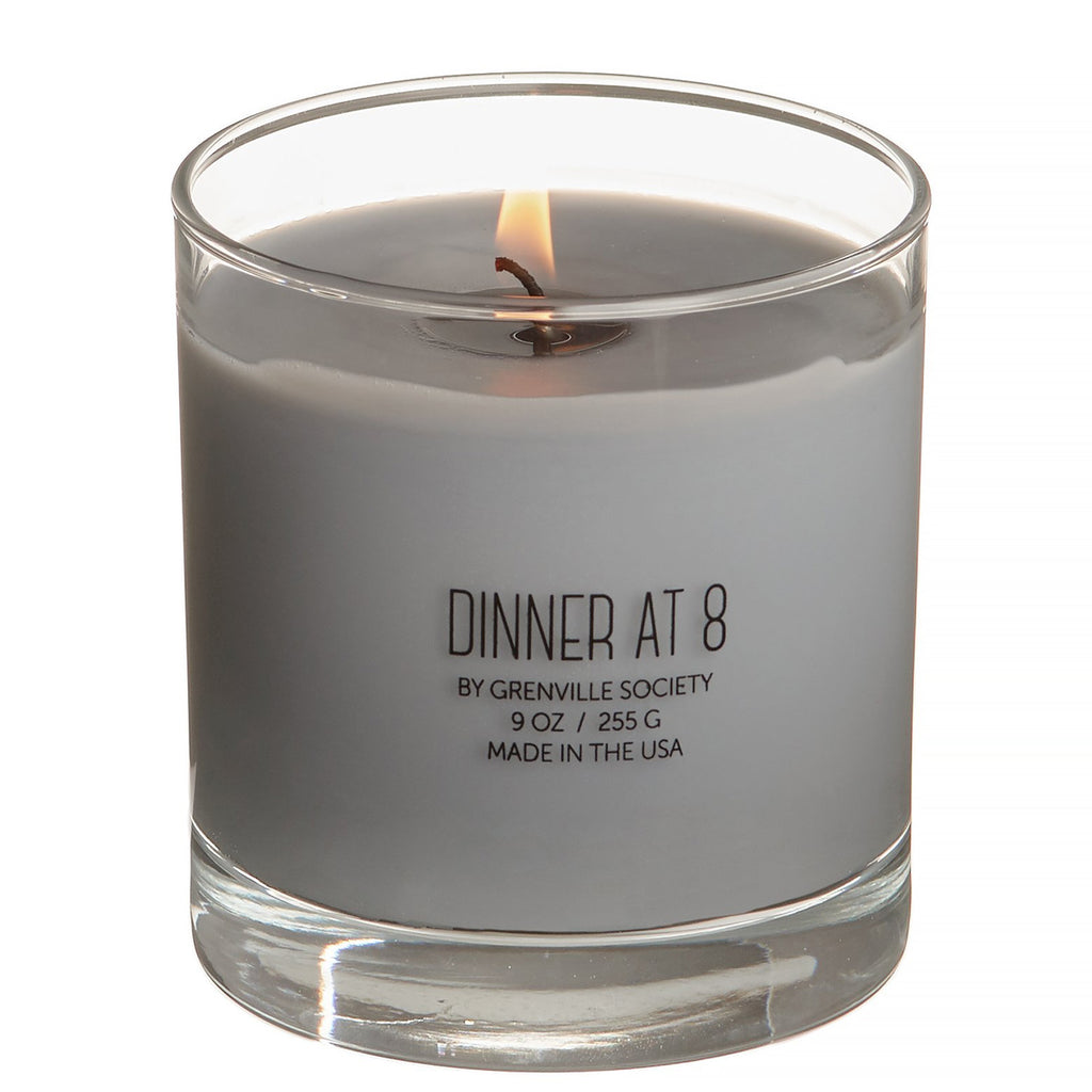 DINNER at 8:  grenville society candle