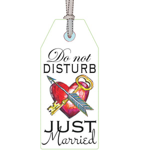 just married: DOOR TAG