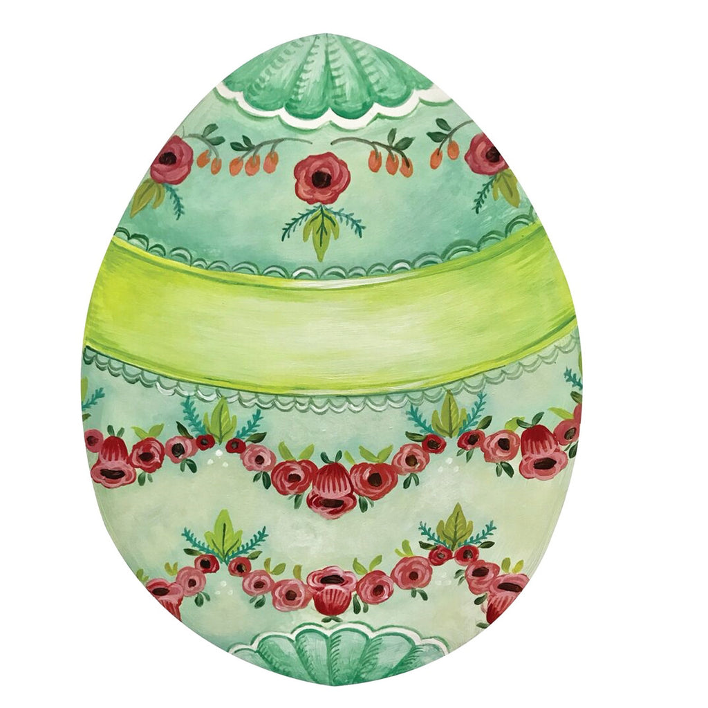 Die Cut Boxwood Egg: paper placemats